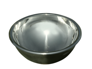 Stainless wash-bowl with drain fittings