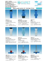pump adapters, filters, non-return valves, pressure switches, distributors