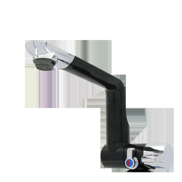 2430.22.21 Single lever mixer ARONA black / chrome