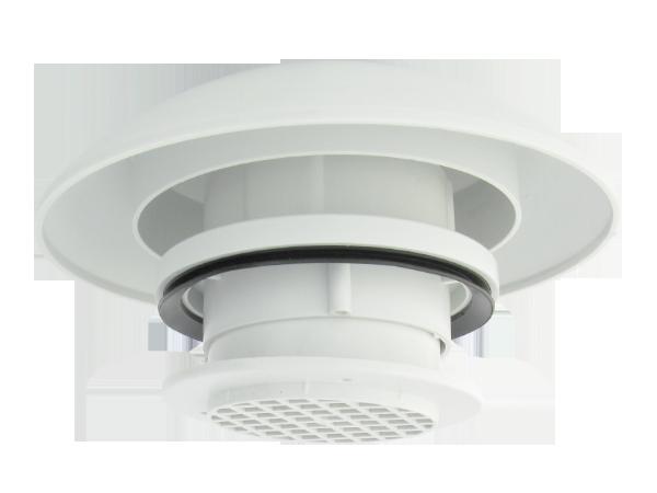 5252.02.00 Roof ventilator light grey grill light grey
