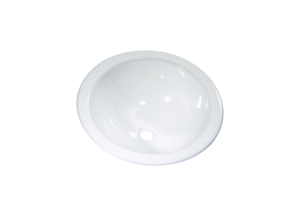 8701.06.00 Wash-bowl oval white glossy