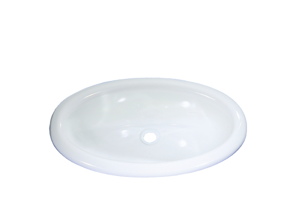 8703.06.00 Wash-bowl oval white glossy